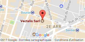 Vectalis is based close to the Bourse metro station in Paris.